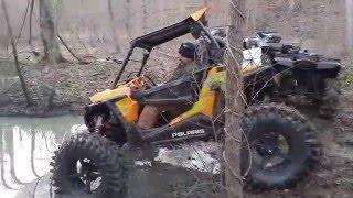 getlinkyoutube.com-RZR 900 XC On 38 Inch Terminators Buried