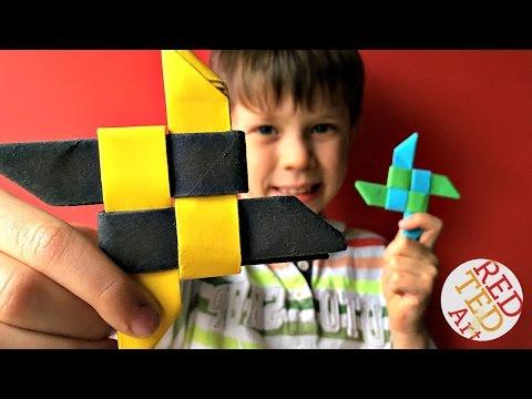 Easiest Ninja Star for Beginners - DIY Origami Ninja Star (Shuriken)