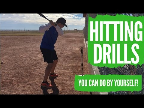 3 Baseball Hitting Drills For Youth Players (DO BY YOURSELF!)