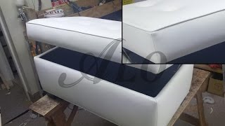 getlinkyoutube.com-DIY: BENCH WITH STORAGE SPACE. SHELLY L. - ALO Upholstery