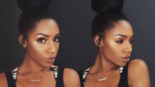 getlinkyoutube.com-Fall Makeup Series: Bronze Eyes and Glowy Skin ▸ VICKYLOGAN