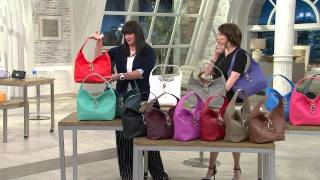 getlinkyoutube.com-Dooney & Bourke Leather Hobo with Logo Lock and Accessories with Amy Stran