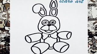 getlinkyoutube.com-Como dibujar a bonnie peluche | how to draw bonnie