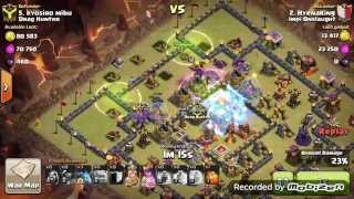 Defeat the popular TH10 Titan war base (5 Golem)