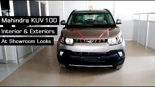 getlinkyoutube.com-Mahindra KUV100 Top End Model Interior & Exterior Red | Grey Colours At Showroom | 2016 - 17 | India