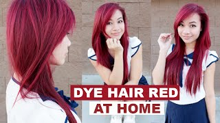 How to Dye Hair Red without Using Bleach l Loreal HiColors Hi-Lift Red Magenta Hair Color
