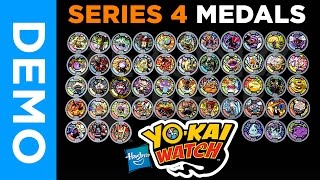 getlinkyoutube.com-[4K] Hasbro Yo-Kai Watch - All SERIES 4 Medals From Mystery Bags