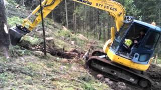 getlinkyoutube.com-komatsu pc 78 us building forest road
