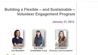 Building a Flexible - and Sustainable - Volunteer Engagement Program