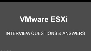 getlinkyoutube.com-VMware ESXi Interview Questions & Answers for Fresher & Experience