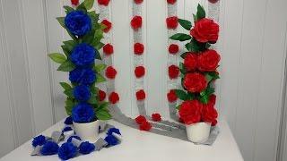 getlinkyoutube.com-Aula 43 - Como fazer arranjo com flores de papel de seda (Artesanato)