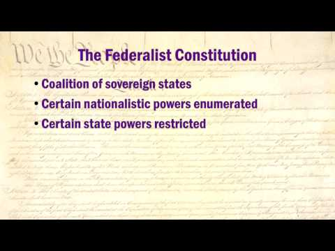 Constitution Lectures 5: Federalism vs. Nationalism  (HD version)