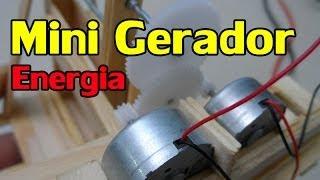 Mini gerador de energia manual movido a manivela