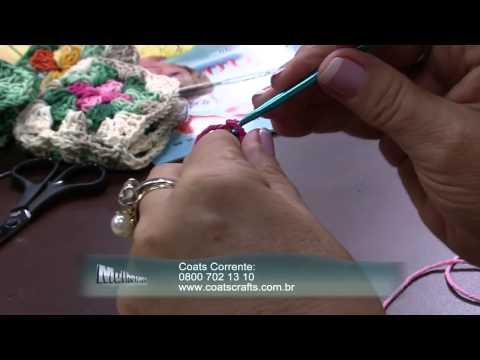 Mulher.com 15/12/2014 - Tapete de Croche por Vitoria Quintal - Parte 1