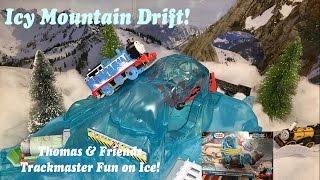 getlinkyoutube.com-Thomas and Friends Trackmaster Toy Train Set-Icy Mountain Drift!