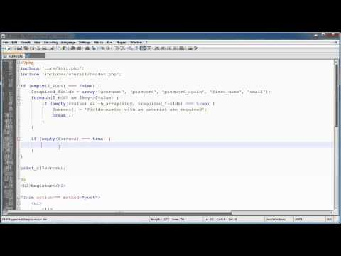 PHP Tutorials: Register &amp; Login (Part 10): Registration Form and Validation (Part 2)