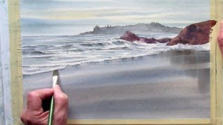 getlinkyoutube.com-painting wet sand in watercolor