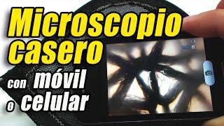 getlinkyoutube.com-Microscopio casero con un móvil o celular, cómo se hace