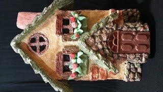 getlinkyoutube.com-عمل منزل من عجينه الورق , بيت من عجينه السيراميك ,  paper clay house