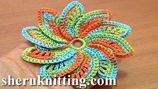 Spiral Flower Crochet Step-by-Step Tutorial 55 hattukukka