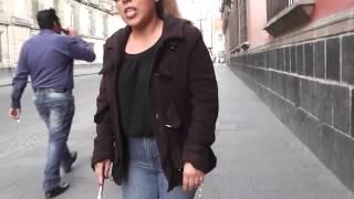 getlinkyoutube.com-How a Blind Person walks a tactile sidewalk in Mexico City, Anna Garzya
