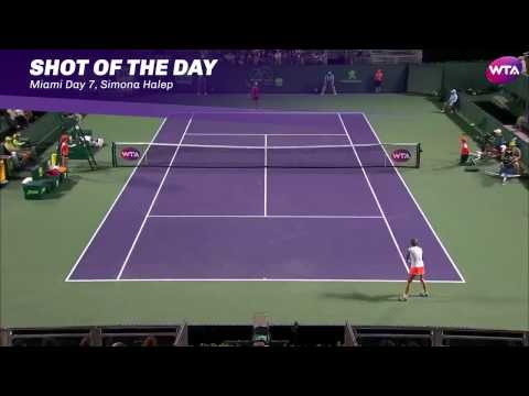 2017 Miami Open Day 7 | Shot of the Day | Simona Halep