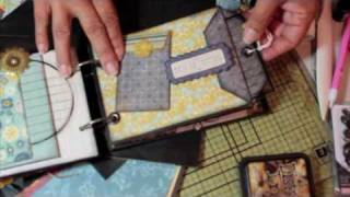 """Scrapbooking How-To Make a Simple """"Paper Bag Envelope Pocket"""" Mini featuring Graphic 45.m4v"""