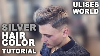 getlinkyoutube.com-How to : Dye your hair in Grey color | Silver hair Tutorial | Skin Fade in Freehand | Mens hair