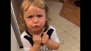 Toddler has hilarious argument over stolen soda