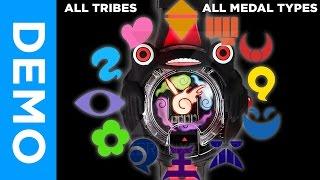 ALL TRIBE SONGS & MEDAL TYPES in DX Kuroi Yo-Kai Watch