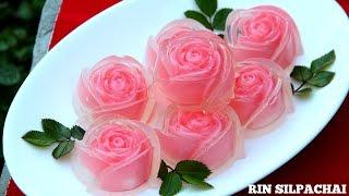 getlinkyoutube.com-วิธีทำ วุ้นกุหลาบแก้ว สำหรับวันแห่งความรัก (Thai Rose Jelly) (Thai audio)