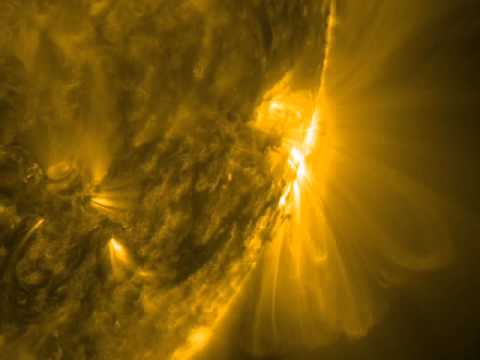 NASA SDO - Spiraling Active Region in Profile