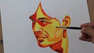 getlinkyoutube.com-Acrylic Portrait Painting Simple Techniques | Acrylic Art
