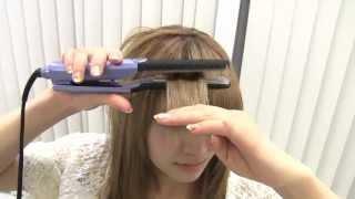 getlinkyoutube.com-☆ストレートアイロンで前髪作成☆