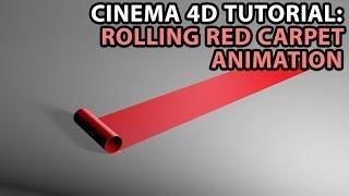 getlinkyoutube.com-Cinema 4D Tutorial: Rolling Red Carpet Animation [Beginner]
