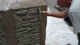 getlinkyoutube.com-Decorative Concrete Simulated Stone Masonry
