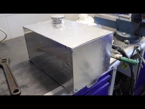 Делаем спортивный бензобак из алюминия + помпа охлаждения на Запорожец