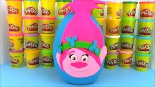 getlinkyoutube.com-Dreamworks Trolls Movie Poppy Giant Playdoh Surprise Egg