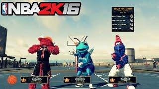 getlinkyoutube.com-NBA 2K16| Three Legend 3 Mascots get WHOOPED!!! |MyPark - Prettyboyfredo