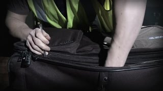 Is your bag secure? Luggage tampered in seconds.