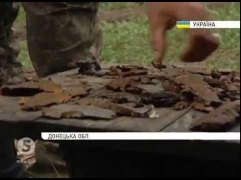 Щедрый «урожай»: у позици ВСУ под Гнутово - горы осколков от вражеских снарядов и мин.