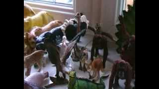 getlinkyoutube.com-My sons Schleich, Papo, AAA Wild / Zoo toy animal collection