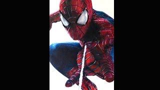 getlinkyoutube.com-How I draw The Amazing Spider-Man 2, Time lapse