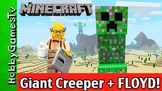 getlinkyoutube.com-Minecraft Giant Creeper + LEGO FLOYD Gameplay Walkthrough by HobbyGamesTV