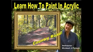getlinkyoutube.com-Learn How To Paint A Country Road In Acrylic