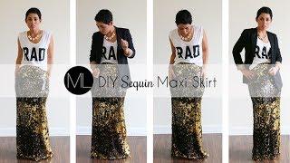 getlinkyoutube.com-Mimi G for Michael Levine: Sequin Maxi Skirt Tutorial!!