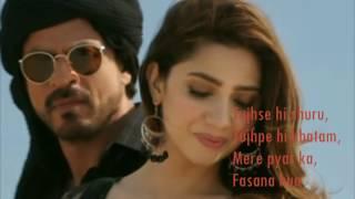 Zaalima | Raees | VIDEO LYRICS | Shah Rukh Khan & Mahira Khan |