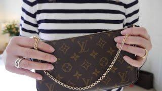 getlinkyoutube.com-Louis Vuitton Pochette Accessoires 3 Different Looks including Cross Body Option
