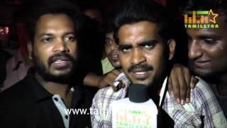 getlinkyoutube.com-Puli Movie - Vijay Fans Reaction at Kasi Theatre