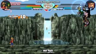 getlinkyoutube.com-Luffy and Zoro vs Shanks and Mihawk M.U.G.E.N.